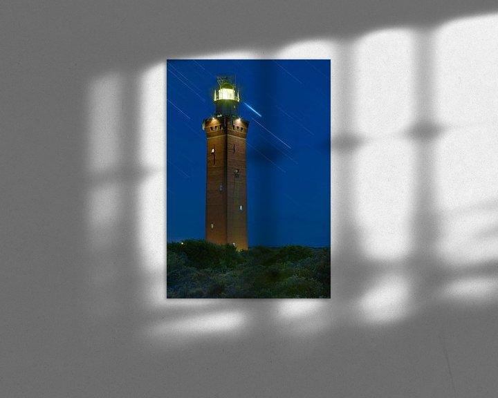 Sfeerimpressie: Nachtfoto Vuurtoren Ouddorp van Anton de Zeeuw