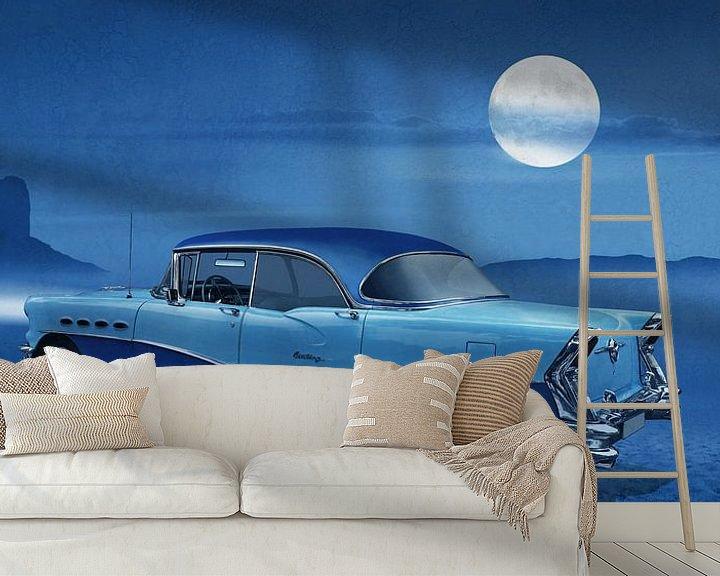 Beispiel fototapete: Blue night on Route 66  von Monika Jüngling