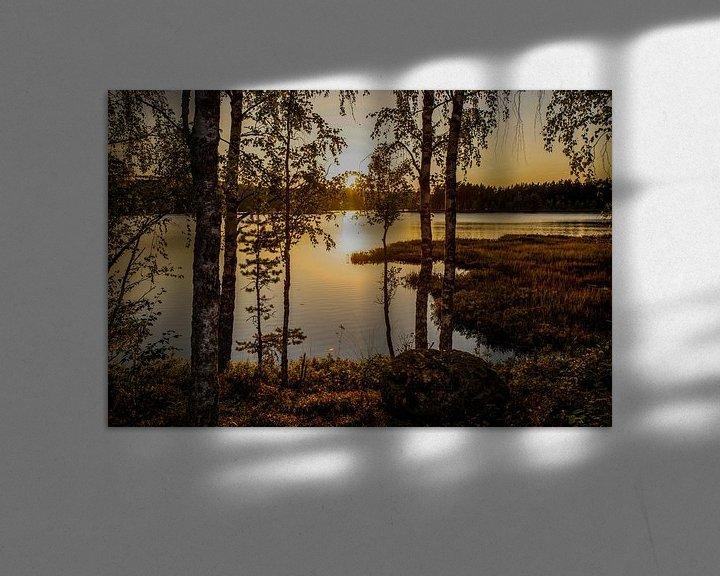 """Impression: """"Sunset"""" over a lake in Dalarna, Sweden. sur Kaj Hendriks"""