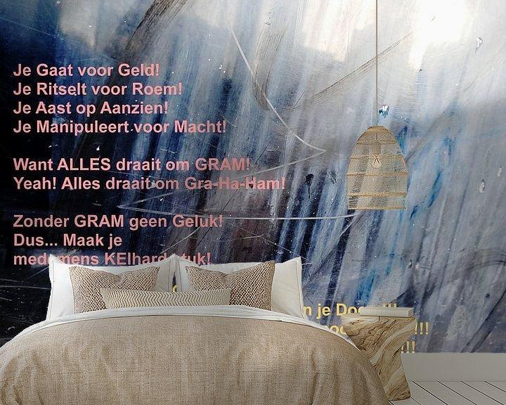 Beispiel fototapete: Strip Splinter Goes Urban (GRAM-lied) von MoArt (Maurice Heuts)