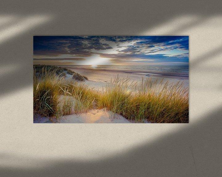 Beispiel: Sonnenuntergang über dem Strand von Ameland. von Karel Pops