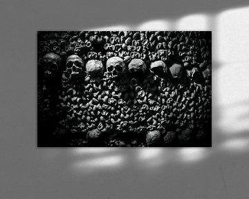 Doodshoofd Catacomben van Parijs von Melvin Erné