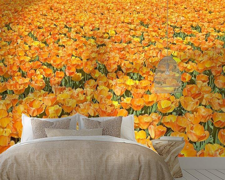 Sfeerimpressie behang: OrangeTulips van Dalex Photography