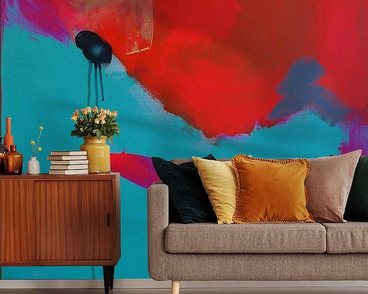 Sfeerimpressie behang: Orange  van Emma Ball