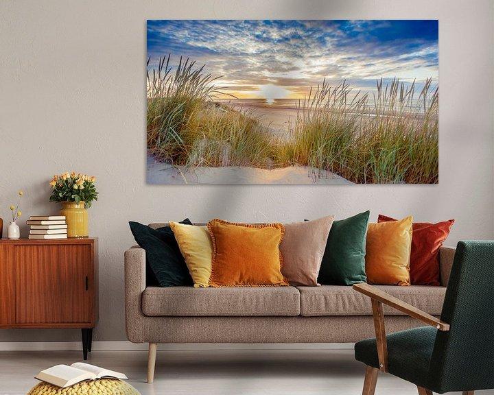 Beispiel: Sonnenuntergang über dem Strand von Ameland von Karel Pops