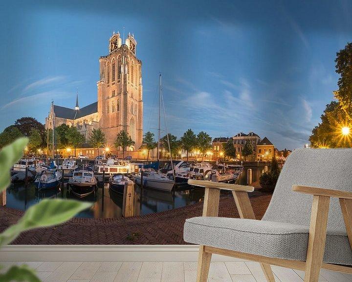 Sfeerimpressie behang: Panorama Maartensgat Dordrecht van Jan Koppelaar