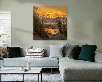 Zonsondergang Ameland Ballum von Waterpieper Fotografie