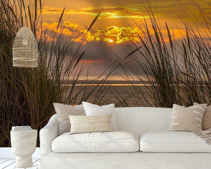 Beispiel fototapete: Sunset beach Ameland von Waterpieper Fotografie