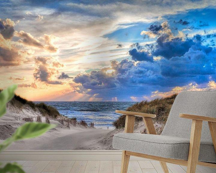 Beispiel fototapete: Strandzugang Nordseestrand von eric van der eijk