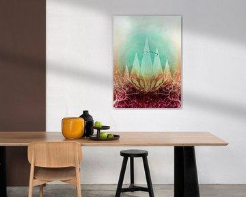 TREES under MAGIC MOUNTAINS VI Portrait van Pia Schneider