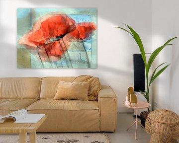 Red poppies van Gabi Hampe