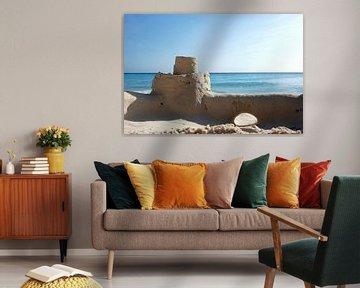 Zand, zee , strand, Curcao van Carolina Vergoossen