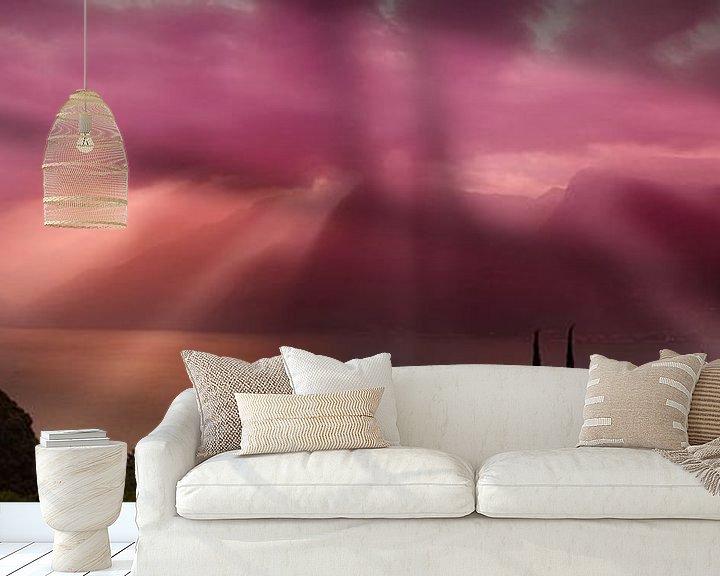 Beispiel fototapete: GARDASEE Fantastischer morgendlicher Panoramablick  von Melanie Viola