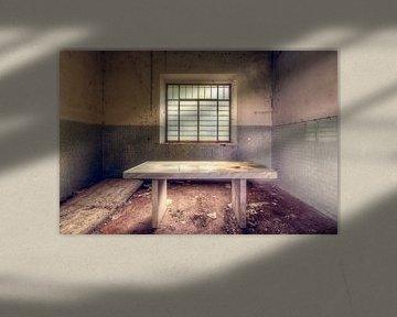 Verlaten Autopsie Tafel