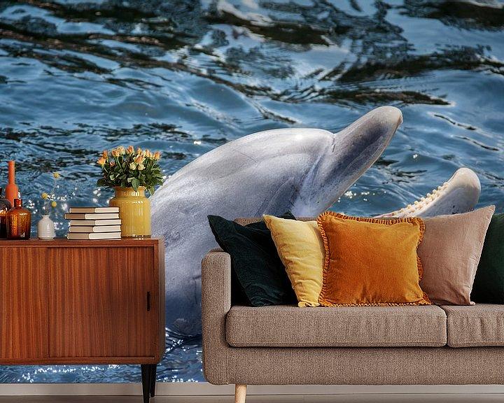 Sfeerimpressie behang: Dolfijn van Ton de Koning