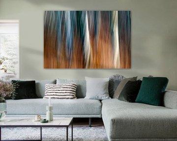 berkenbomen abstract von Desiree Tibosch