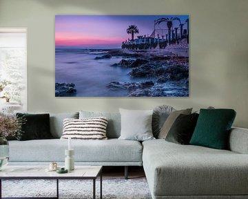 Purple sunset van Jochem van der Blom