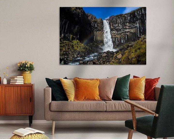 Sfeerimpressie: Black Waterfall van Freek van den Driesschen
