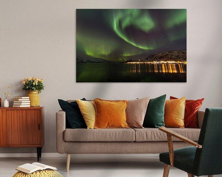 Impression: Northern Lights, Skulsfjord 2 sur Freek van den Driesschen