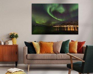 Northern Lights, Skulsfjord von Freek van den Driesschen