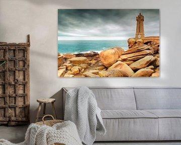 Le phare situé sur la Côte de Granit Rose à Ploumanac'h sur Evert Jan Luchies