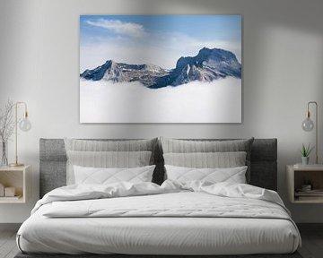 Rotsachtige bergtoppen in de Pyreneeën van Kris Christiaens