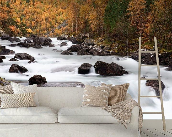 Sfeerimpressie behang: Autumn in Norway van Ellen van Drunen