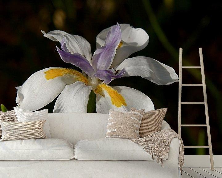 Sfeerimpressie behang: Iris bloem van Arne Hendriks