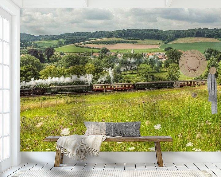 Beispiel fototapete: Stoomtreintje bij Oud- Valkenburg von John Kreukniet