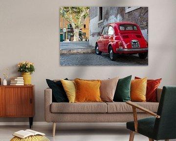 Roter Fiat Nuova 500 von E Jansen