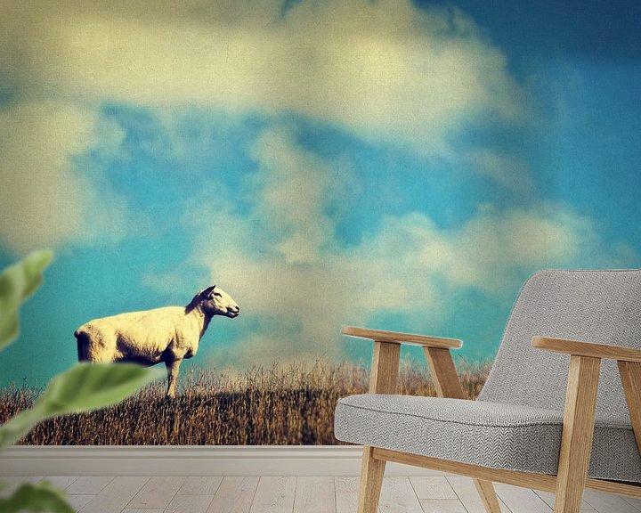 Beispiel fototapete: It's a sheep von Angela Dölling