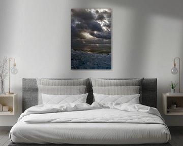 Stormy skies on ice van foto-fantasie foto-fantasie