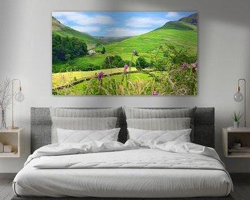 Idyllische Landschaft in England von Gisela Scheffbuch