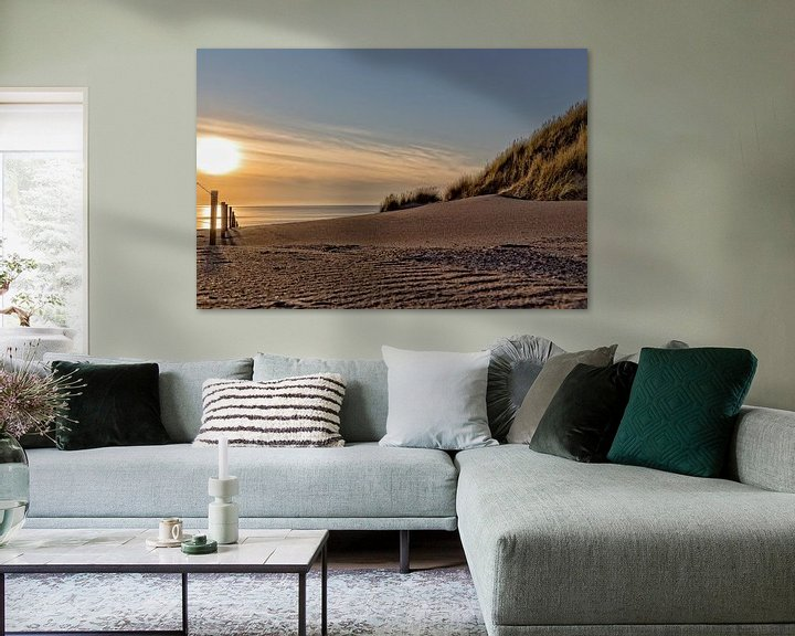 Sfeerimpressie: Zonsondergang strand van Miranda van Hulst