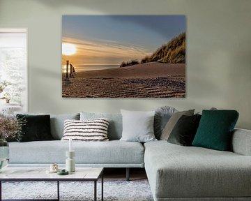 Zonsondergang strand von Miranda van Hulst