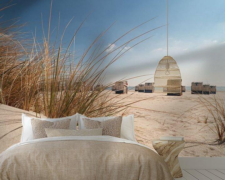 Sfeerimpressie behang: beach view van Dirk Thoms