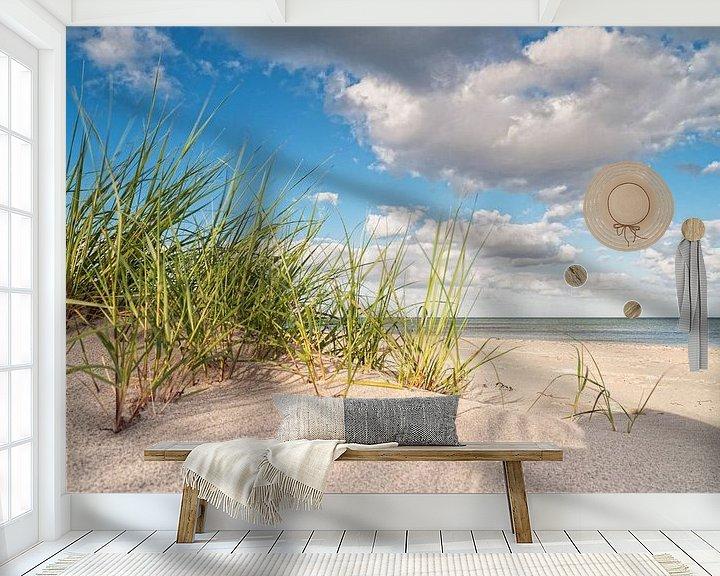 Sfeerimpressie behang: Marram grass van Dirk Thoms