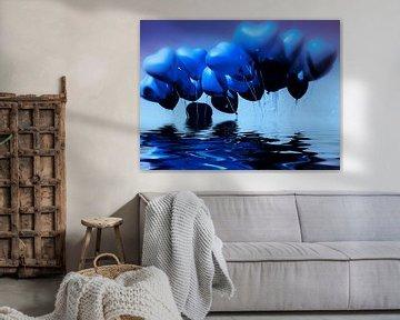 Blaue Herzen von Christine Nöhmeier