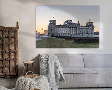 Reichstag Berlin am Morgen