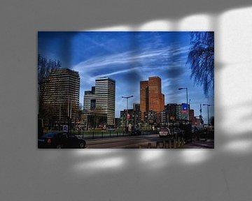 Mooie highrise gebouwen in amsterdam business park van foto-fantasie foto-fantasie