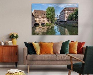 NUREMBERG Hospital of the Holy Spirit & River Pegnitz  van Melanie Viola