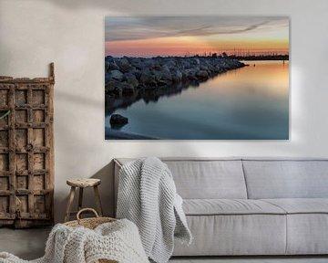 Zonsondergang haven van Miranda van Hulst