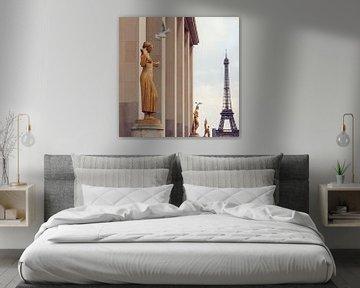 Blick auf den Eiffelturm, Paris sur Laura Vink
