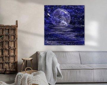 Blauer Mond von Christine Nöhmeier