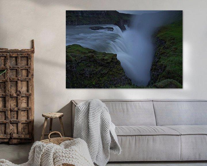 Sfeerimpressie: Gullfoss waterval, IJsland van Pep Dekker