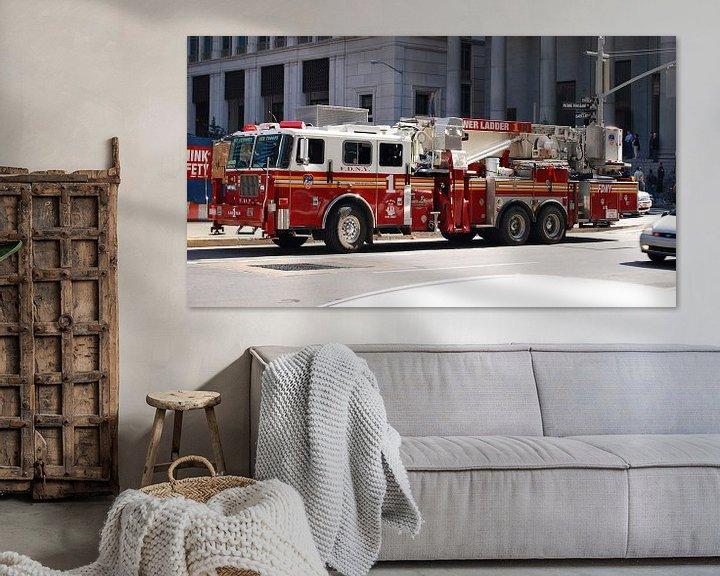Sfeerimpressie: Brandweerauto van New York, Amerika van Be More Outdoor
