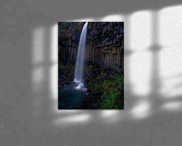 Svartifoss waterval, IJsland