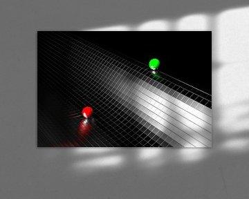 Rode Groene Bal Zwarte golf von Jan Brons