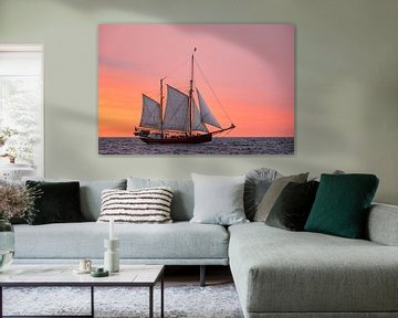 Sailing ship on the Hanse Sail van Rico Ködder