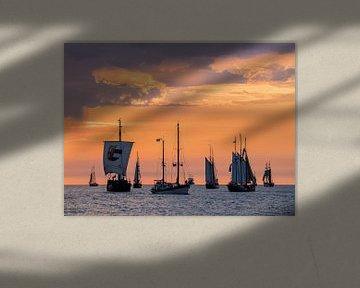 Segelschiffe auf der Hanse Sail sur Rico Ködder
